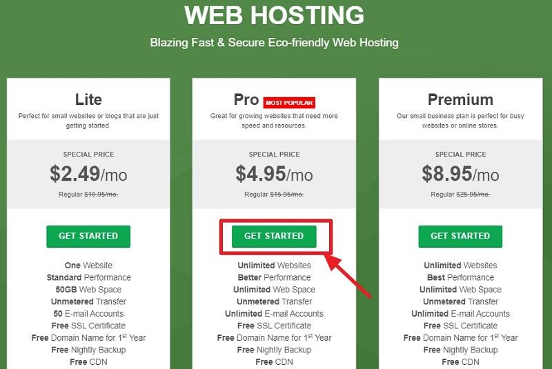 greengeek web hosting plans