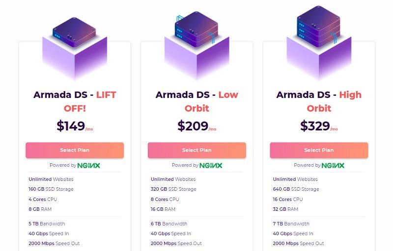 hostarmada dedicated server hosting plans