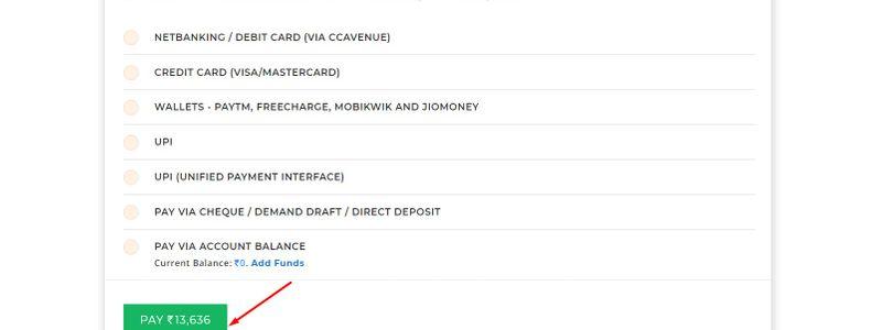bigrock payment option