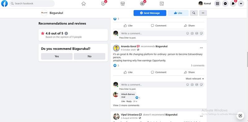 Bizgurukul Social Media Reviews