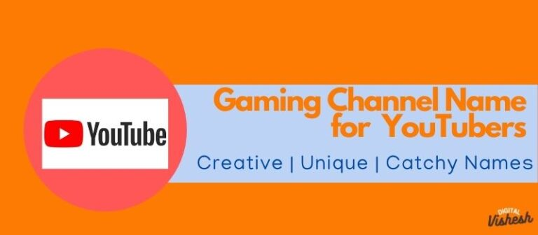 YouTube Gaming channel name, gaming channel names for youtube