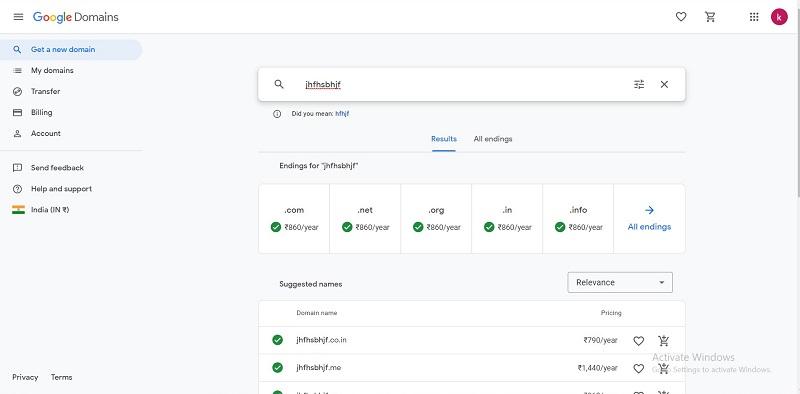 Google Domains Pricing