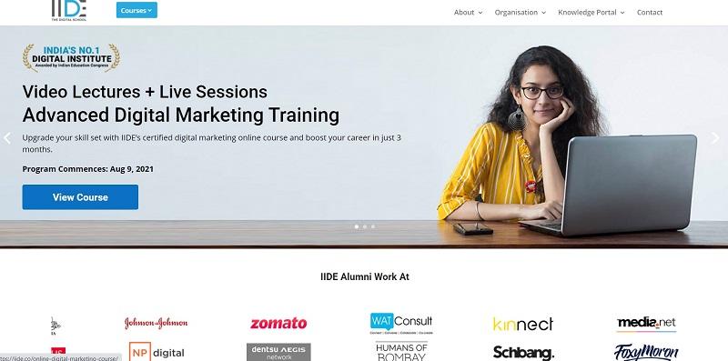 IIDE Delhi Best digital marketing institute in Delhi