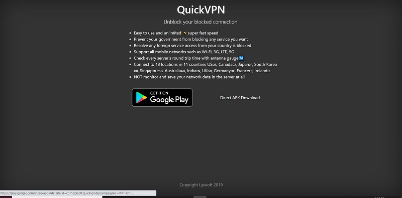 QuickVPN Pricing