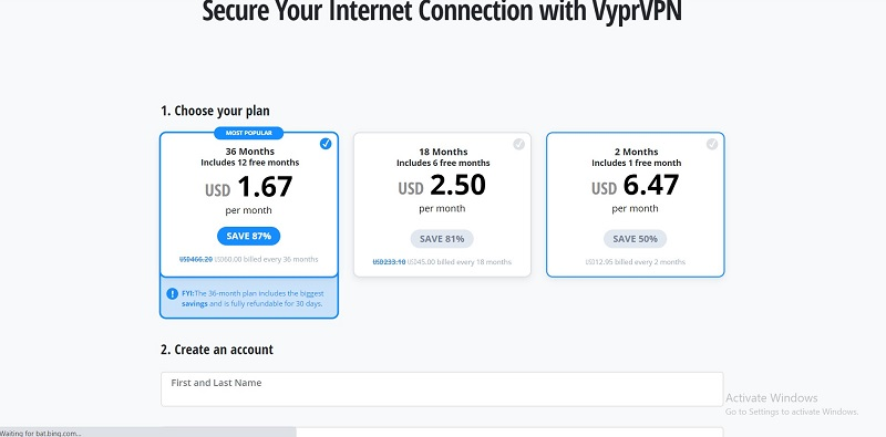 Vypr VPN Pricing
